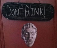 The Weeping Angel Halloween Decoration | ADDled Adventures