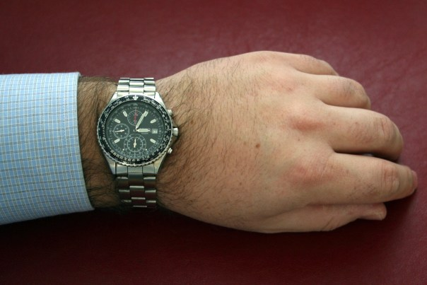 Seiko Aerospace Flightmaster Collection Chronograph on My Wrist