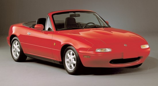 1991 Mazda Miata Front Right 3/4 View