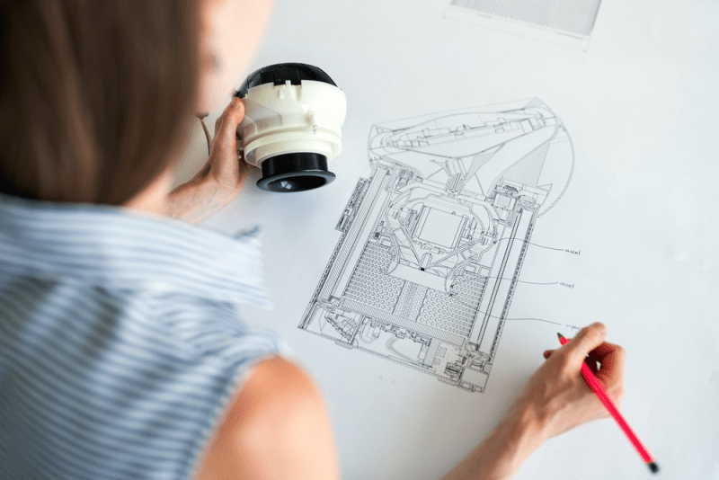 Woman-Designing-Product