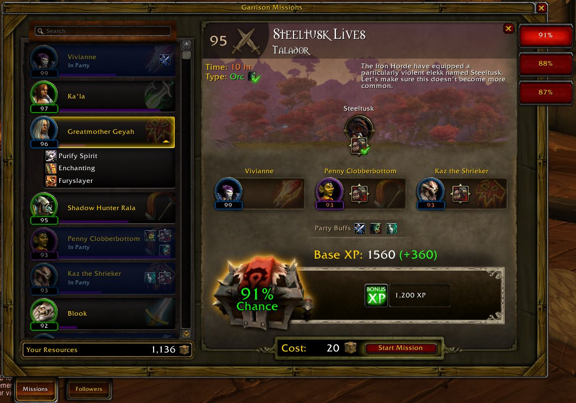 WoW Garrison Mission Manager addon Shadowlands/classic 2021