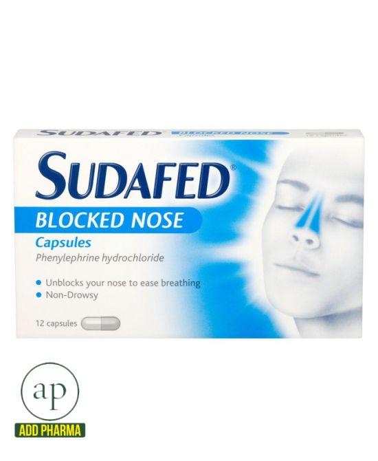 Sudafed Blocked Nose Capsules (12 Capsules)