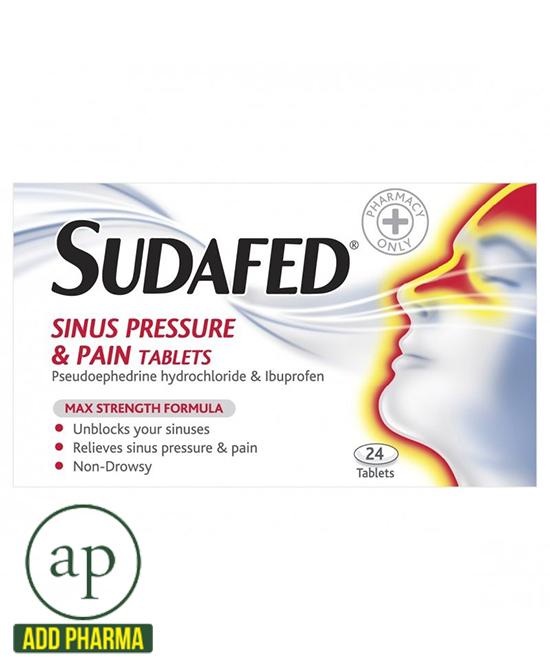 Sudafed Sinus Pressure & Pain Tablets - 24 Tablets