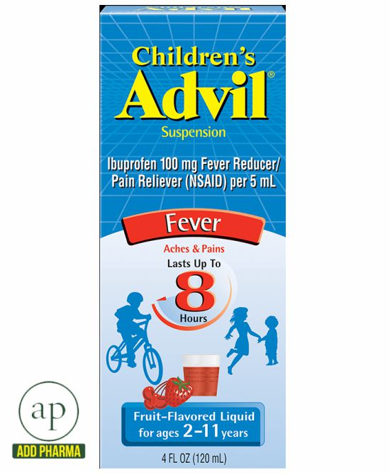 Children's Advil Ibuprofen Fever Reducer Oral Suspension Fruit 4.0 fl oz