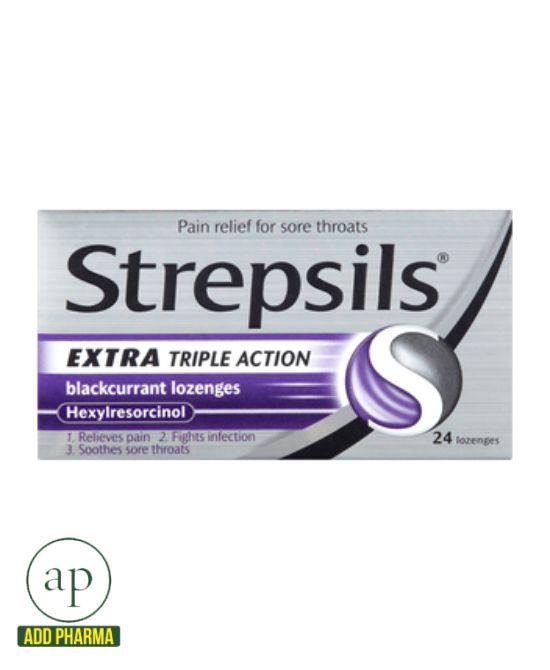 Strepsils Extra Triple Action - 24 Lozenges