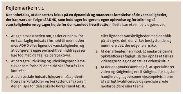 Kort resumé af National ADHD Handleplan 201