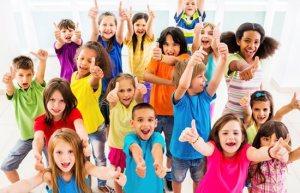 Children-cheering