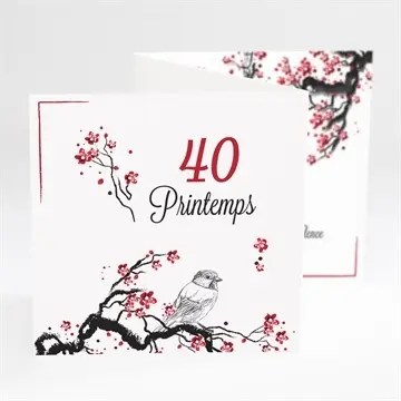 invitation anniversaire 40 printemps