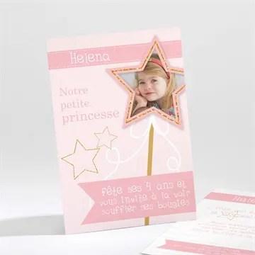 invitation anniversaire princesse feerique