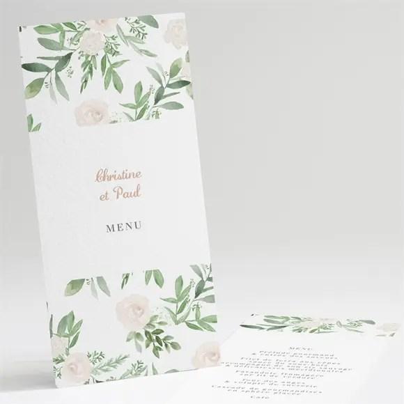 menu anniversaire de mariage invitation champetre