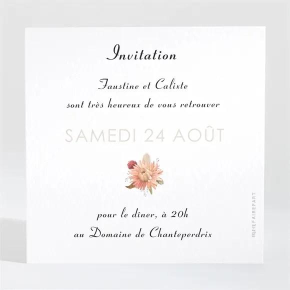 carton d invitation mariage en delicatesse