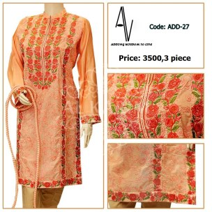 Fabric: Lawn/ cotton net Sizes: Small - Medium - Large Details: Exclusive heavy resham work on shirt front and sleeves cuff.