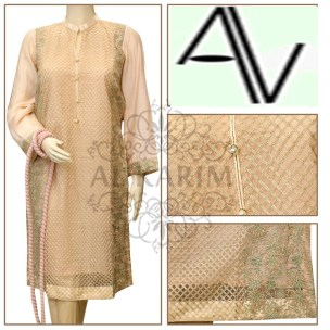Product Code: D#42 Fabric: Cotton net Price: 4795 PKR Sizes: Small DETAILS: Exclusive resham fawn owaon resham embroidery work on shirt front and sleeves cuff, fancy buttons . Note : Embroidery shirts have been styled in the image for photography and illustrative purposes. The standard style comes as a long sleeved kameez & dupatta.
