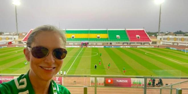 السفيرة الأمريكية تحضر مباراة تونس لتشجيع «المرابطون»