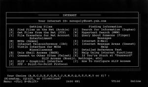 1994/1995 Flatland BBS Menu Screen