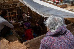 Imagen de una exhumación en Guadalajara. Asociación para la Recuperación de la Memoria Histórica.