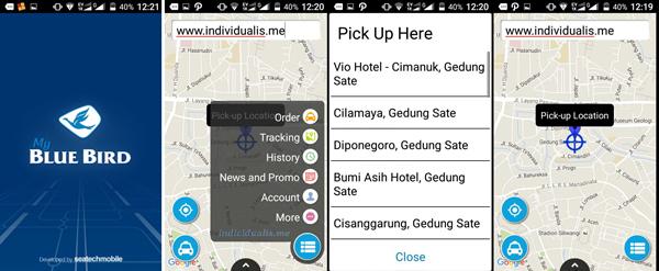 Screenshot Aplikasi My Blue Bird Metro Bandung Raya