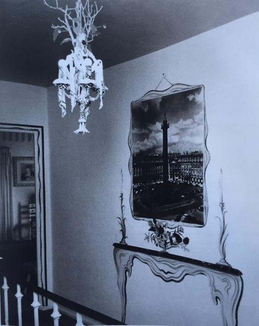 trompe l'oeil console in a narrow hall