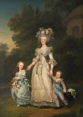 Adolf_Ulrik_Wertmüller Queen_Marie_Antoinette_of_France_and_two_of_her_Children_Walking_in_The_Park_of_Trianon_-_Google_Art_Project