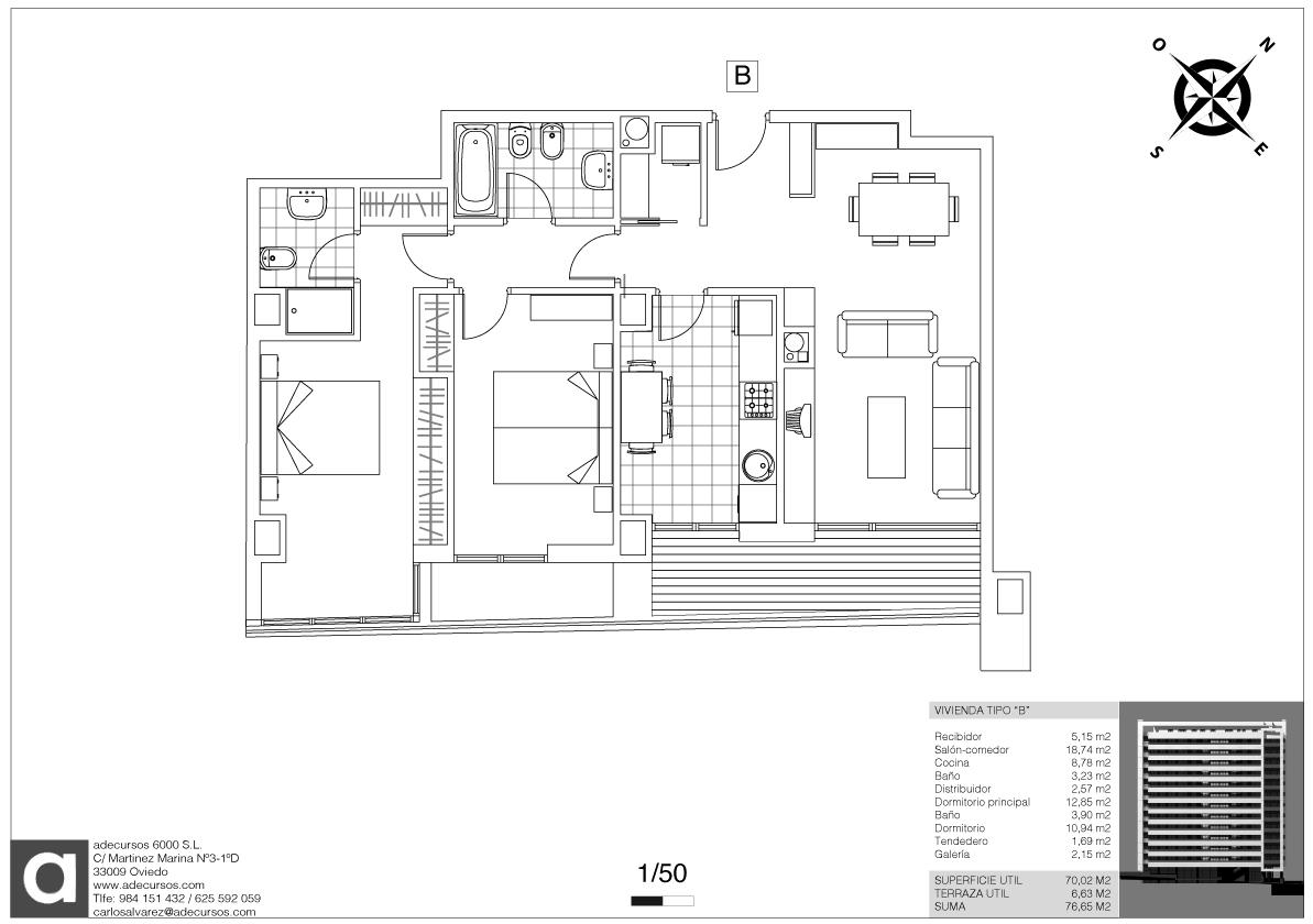 Planos definitivos distribucin tipo 5 viviendas por