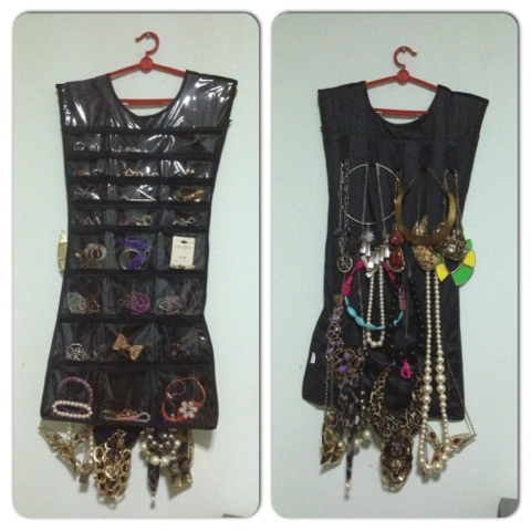 Little Black Dress Hanging Jewelry Organizer A Deecoded Life