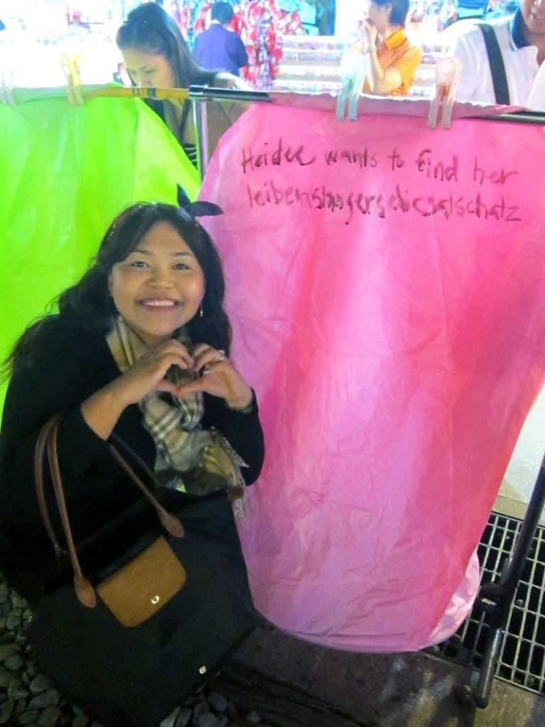Taiwan lantern love wish