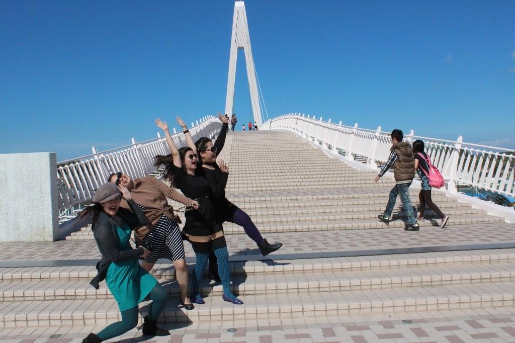 Taiwan lover's bridge wind
