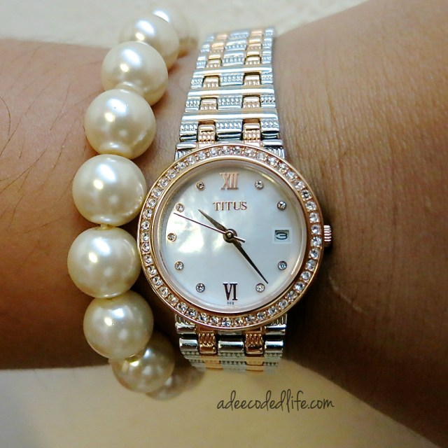 Solvil et Titus watch with pearls