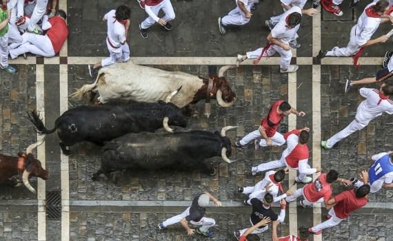 """Foto encierro San Fermín, donde ocurrió en caso conocido como """"LA MANADA"""""""