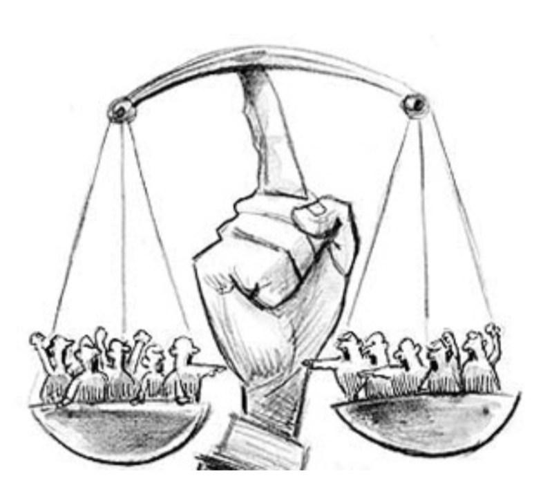 Imagen de una balanza representando disparidad de opiniones en cada extremo en relación al tema central del artículo: Los conflictos de competencia tributaria