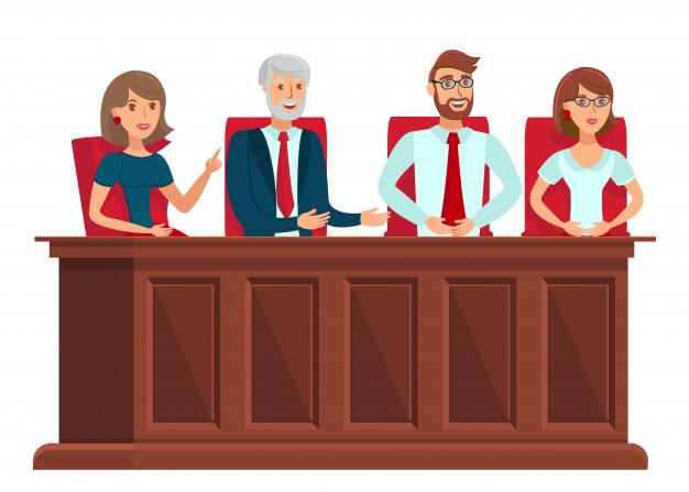 Imagen de un estrado con jurado popular