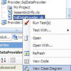 Visual Studio View Class Diagram Cat Pumps 3dx29gsi Parts Dotnetnuke Using Viewer Of In 2005 Right Click On The Sqldataprovider Vb File Provider Sqldataprivider Project And Select