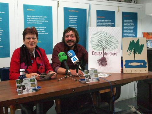 Adela Figueroa e Anxo Lamelo na presentación do programa de roteiros