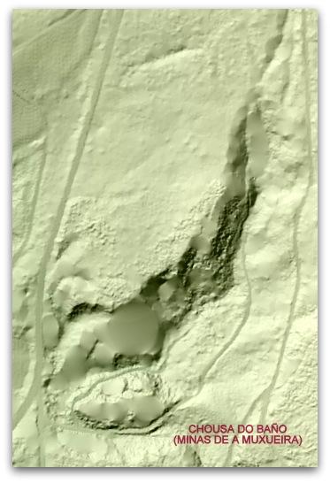 A mina Chousa do Baño pertence a un complexo mineiro romano