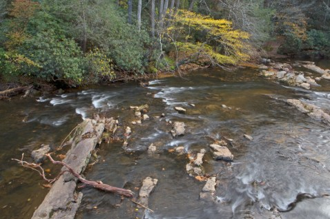 Toccoa River viewed from the Swinging Bridge, Blue Ridge, GA © Adel Alamo 2014