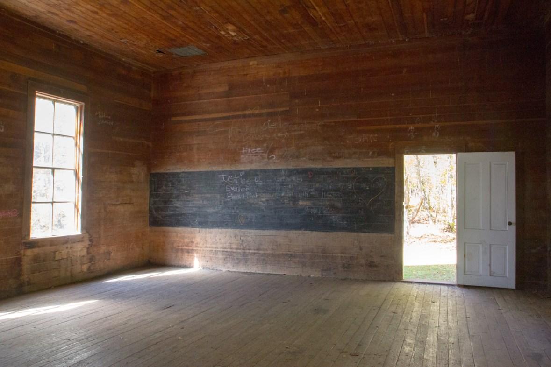 Beech Grove School Interior, Cataloochee Valley, Great Smoky Mountain National Park, NC