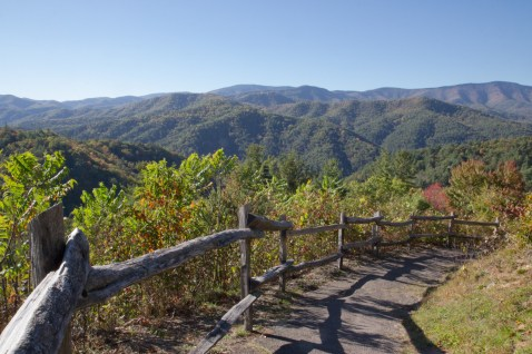 Overlook, Cataloochee Valley, Great Smoky Mountain National Park, NC