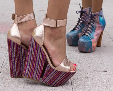 Stylish platform shoes