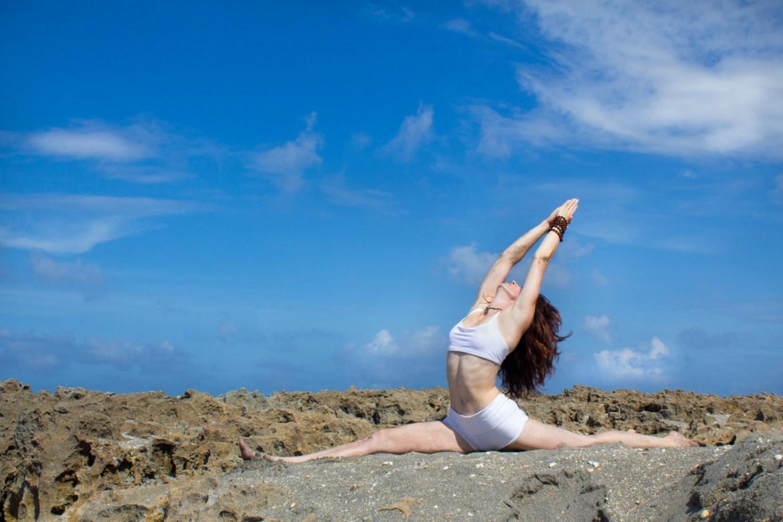 Joy Wolfe, Yoga, Prananda, Front splits pose, Blowing Rocks, Jupiter, FL