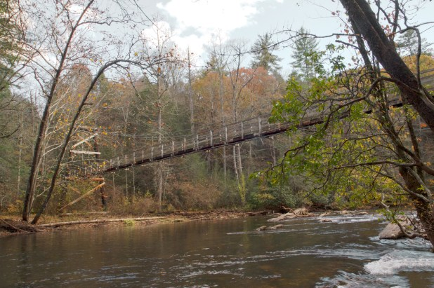 Toccoa River Swinging Bridge, Blue Ridge, GA © Adel Alamo 2014