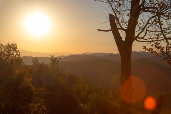 Sunset over the Blue Ridge Mountains, Mars Hill, NC