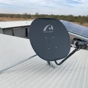 VAST Satellite dish installation in Innamincka