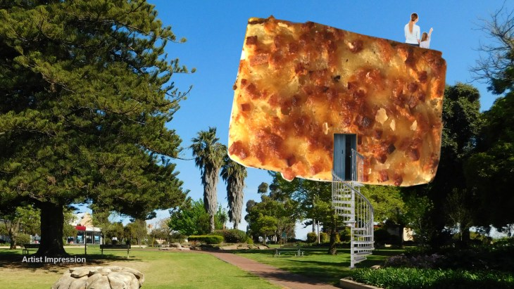 An artist's impression of a big savoury slice...whatever that is