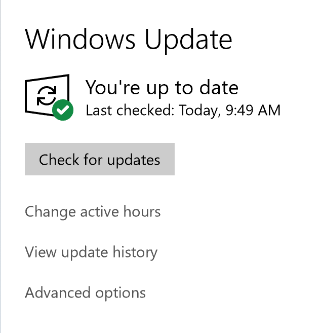 Windows update opening