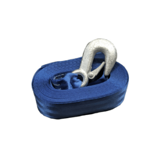 Trailer Winch - Winch Strap 8M - Snap Hook