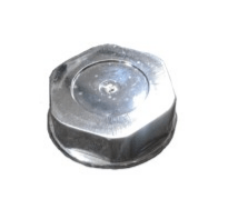 Chrome Plastic Cap (Hex)