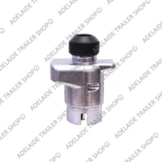 Large Round Trailer Plug 7 Pin - Metal