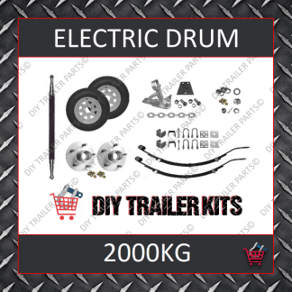 Single Axle Running Gear Kit - Electric Brake 2000kg (Parts Only)