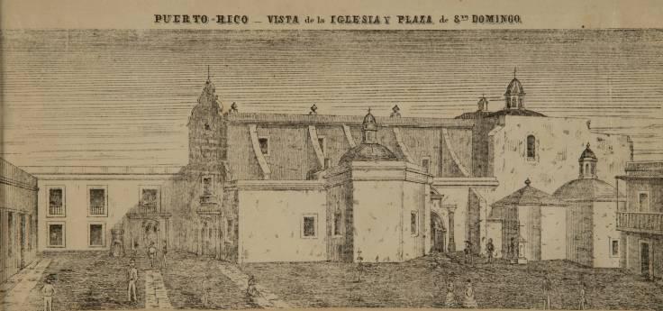 Puerto_Rico_Vista_de_la_iglesia_y_plaza_de_Santo_Domingo