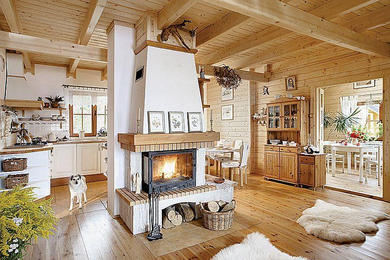 Casa din lemn cu interior traditional Visul implinit al unui cuplu care a trait la bloc  Adela